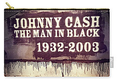 Johnny Cash Memorial Carry-all Pouch by Dan Sproul