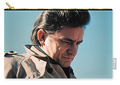 Carry-all Pouch featuring the photograph Johnny Cash  Music Homage Ballad Of Ira Hayes Old Tucson Arizona 1971 by David Lee Guss