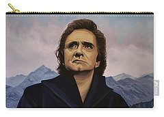Johnny Cash Painting Carry-all Pouch by Paul Meijering