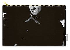 Carry-all Pouch featuring the photograph Johnny Cash Sitting With Cup  Old Tucson Arizona 1971-2009 by David Lee Guss
