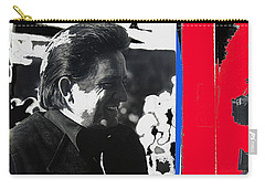 Carry-all Pouch featuring the photograph Johnny Cash  Smiling Collage 1971-2008 by David Lee Guss