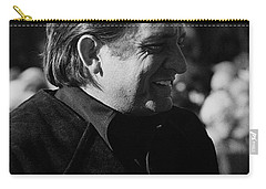 Carry-all Pouch featuring the photograph Johnny Cash Smiling Old Tucson Arizona 1971 by David Lee Guss