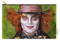 Johnny Depp As Mad Hatter Carry-all Pouch by Melanie D