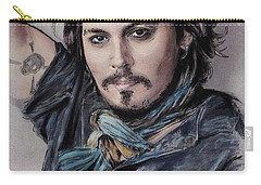 Johnny Depp Carry-all Pouch by Melanie D