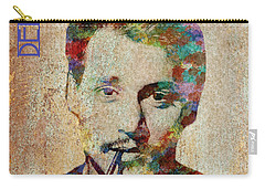 Johnny Depp Watercolor Splashes Carry-all Pouch