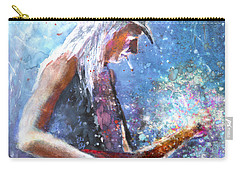 Johnny Winter Carry-all Pouch by Miki De Goodaboom