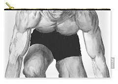 Carry-all Pouch featuring the drawing Johnson by Tamir Barkan