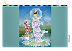 Carry-all Pouch featuring the photograph Joining Palms Kuan Yin by Lanjee Chee
