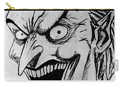 Carry-all Pouch featuring the painting Joker by Salman Ravish