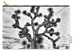 Carry-all Pouch featuring the photograph Joshua Black And White by Benjamin Yeager