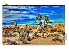 Carry-all Pouch featuring the photograph Joshua Tree by Benjamin Yeager