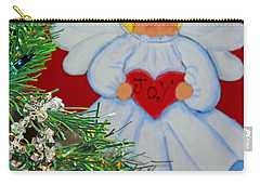 Carry-all Pouch featuring the painting Joy by Barbara McDevitt