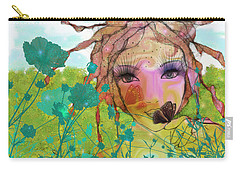 Carry-all Pouch featuring the digital art Joy by Barbara Orenya