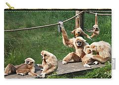Joyful Monkey Family Carry-all Pouch