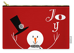 Joyful Snowman Carry-all Pouch