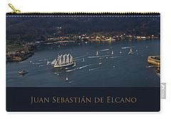 Juan Sebastian Elcano Departing The Port Of Ferrol Carry-all Pouch