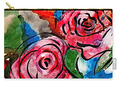 Juicy Red Roses Carry-all Pouch by Joan Reese