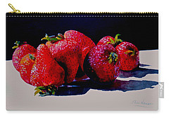 Juicy Strawberries Carry-all Pouch by Sher Nasser