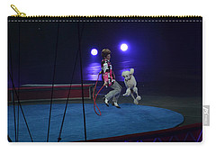 Carry-all Pouch featuring the photograph Jumprope With Fido by Robert Meanor