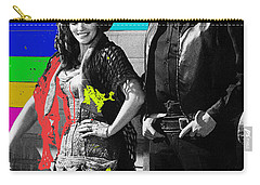 Carry-all Pouch featuring the photograph June Carter Cash Johnny Cash In Costume Old Tucson Az 1971-2008 by David Lee Guss