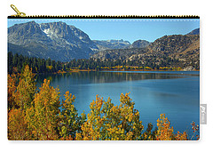 Carry-all Pouch featuring the photograph June Lake Blues And Golds by Lynn Bauer