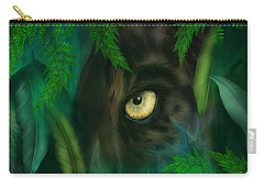Jungle Eyes - Panther Carry-all Pouch by Carol Cavalaris