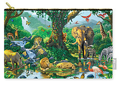 Jungle Harmony Carry-all Pouch by Chris Heitt