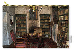 Junipero Serra Library In Carmel Mission Carry-all Pouch by RicardMN Photography
