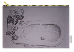 Carry-all Pouch featuring the drawing Jurisbidencia by Lazaro Hurtado