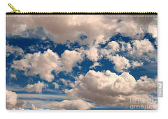 Carry-all Pouch featuring the photograph Just A Face In The Clouds by Janice Westerberg