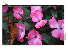 Carry-all Pouch featuring the photograph Just A Small Taste For This Butterfly by Thomas Woolworth