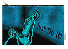 Just Do It - Blue Carry-all Pouch