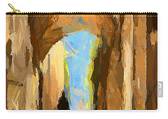 Carry-all Pouch featuring the painting Just Me And My Shadow by Dragica  Micki Fortuna