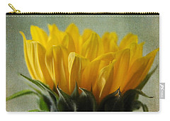 Just Opening Sunflower Carry-all Pouch by Denyse Duhaime