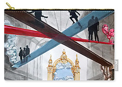 Carry-all Pouch featuring the painting Just Paths  by Lazaro Hurtado