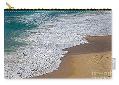 Just Waves And Sand By Kaye Menner Carry-all Pouch by Kaye Menner