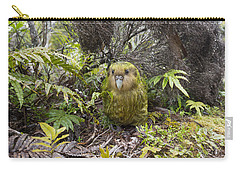 Kakapo Male In Forest Codfish Island Carry-all Pouch