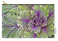 Kale Plant In The Rain Carry-all Pouch