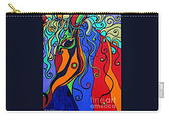 Kaleidoscope Eyes Carry-all Pouch by Alison Caltrider