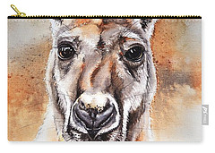 Kangaroo Big Red Carry-all Pouch by Sandra Phryce-Jones