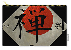 Kanji Zen With Enso #2 Carry-all Pouch by Nola Lee Kelsey