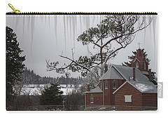 Carry-all Pouch featuring the photograph Kansas Church by Liane Wright