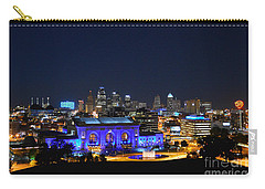Kansas City Union Station In Blue  Carry-all Pouch