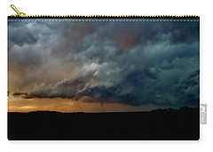 Kansas Tornado At Sunset Carry-all Pouch by Ed Sweeney