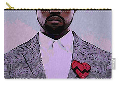 Kanye West Poster Carry-all Pouch by Dan Sproul