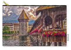 Carry-all Pouch featuring the photograph Kapellbruecke by Hanny Heim