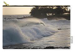 Carry-all Pouch featuring the photograph Kauai - Brenecke Beach Surf by HEVi FineArt