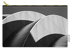 Kauffman Center Curves And Shadows Black And White Carry-all Pouch