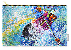 Carry-all Pouch featuring the painting Kayak Crush by Hanne Lore Koehler