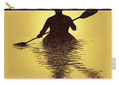 Kayaker Sunset Carry-all Pouch